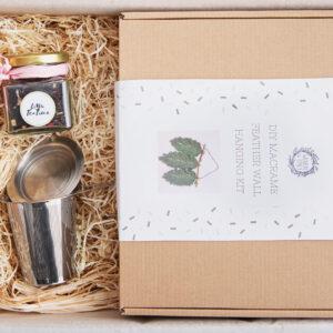 Macrame diy, macrame gift, macrame kit macrame and tea, self care